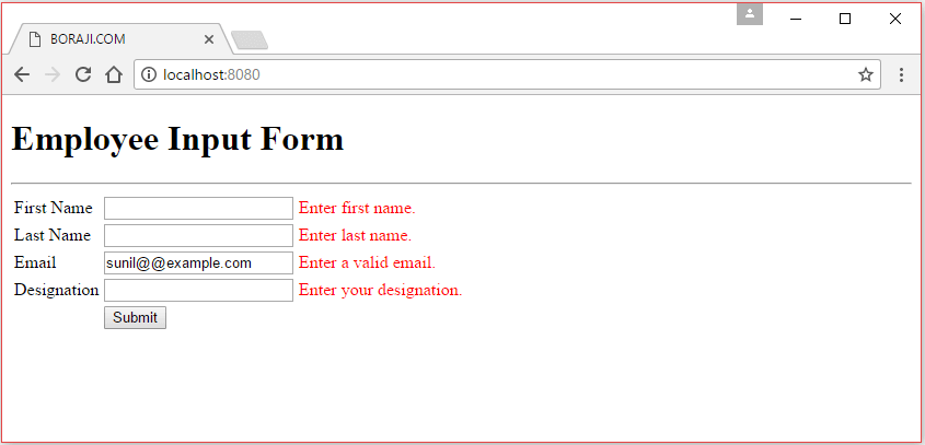 Spring MVC 4 - JQuery Ajax form submit example | BORAJI COM