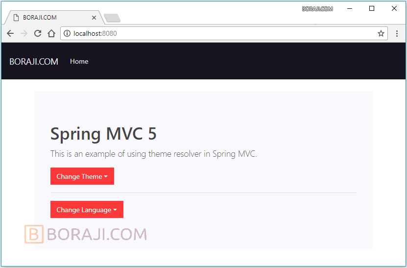 Spring MVC 5 - Internationalization example | BORAJI COM