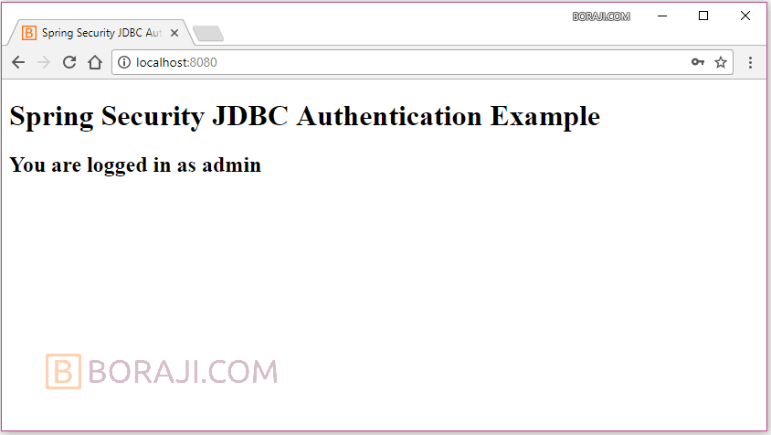 Spring Security 5 - JDBC based authentication example