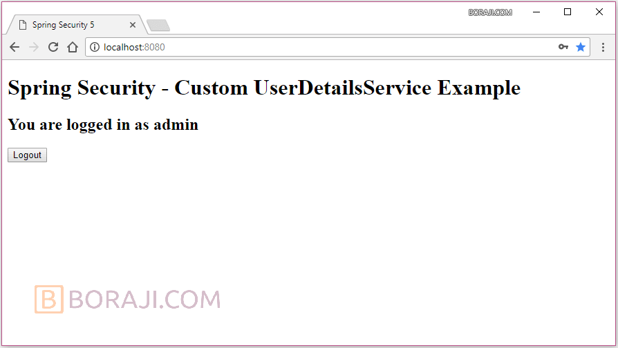 Spring Security 5 - Custom UserDetailsService example